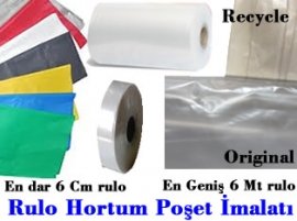 Plastik Poşet Rulo Hortum poşet