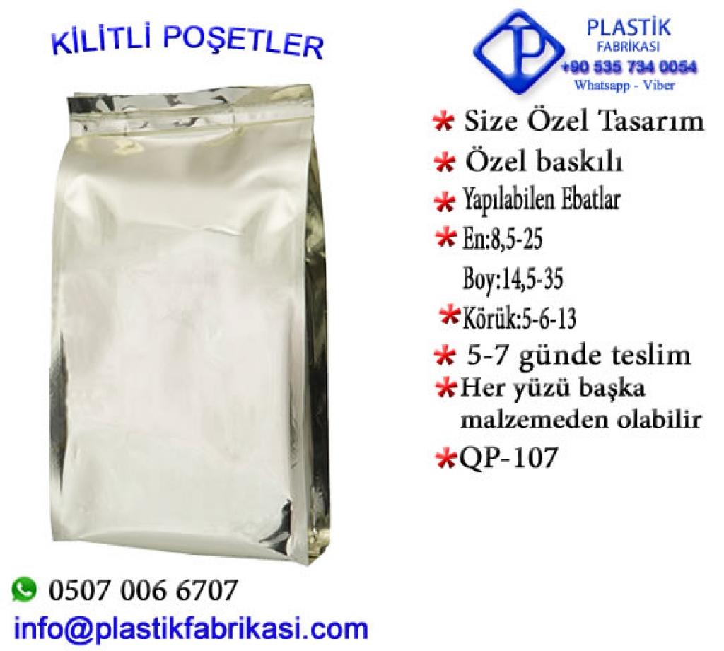 Quadro poşet imalatı yapılır. QP-107 Plastik Poşet Asetat PP Pvc Pet Şeffaf Sızdırmaz Kap