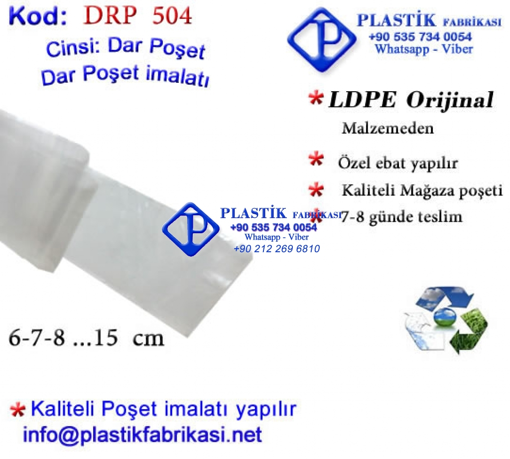 Dar Rulo poşet imalatı 6 cm Plastik Poşet Asetat PP Pvc Pet Şeffaf Sızdırmaz Kap