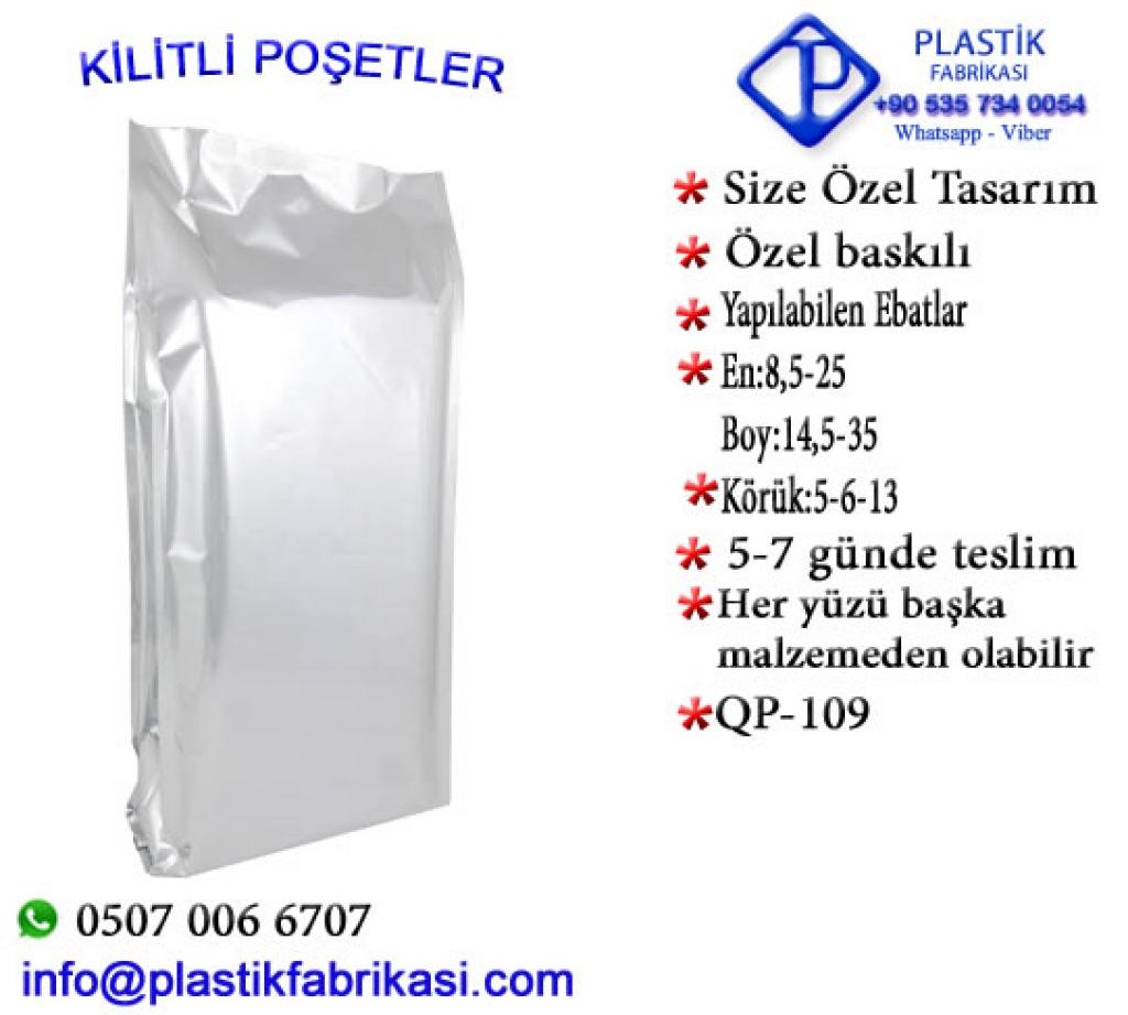Quadro poşet imalatı yapılır. QP-109 Plastik Poşet Asetat PP Pvc Pet Şeffaf Sızdırmaz Kap