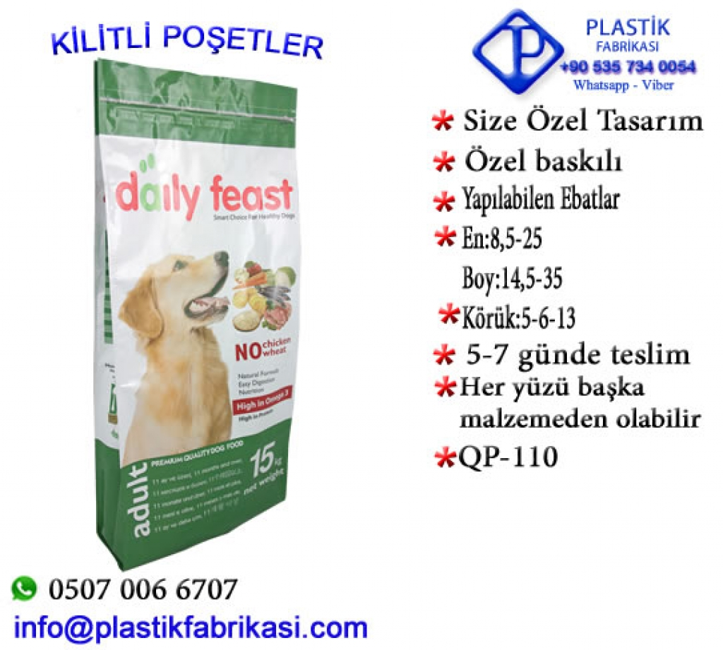 Quadro poşet imalatı yapılır. QP-110 Plastik Poşet Asetat PP Pvc Pet Şeffaf Sızdırmaz Kap