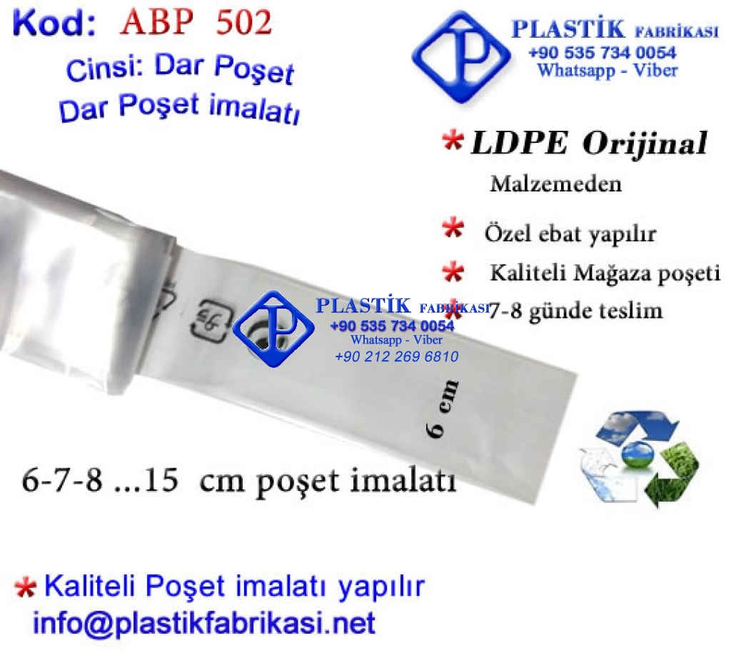 Dar Rulo poşet imalatı Plastik Poşet Asetat PP Pvc Pet Şeffaf Sızdırmaz Kap