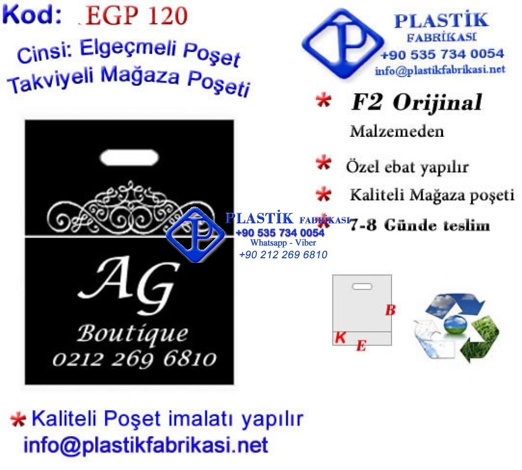 Özel Baskılı Mağaza Poşeti 120 Plastik Poşet Asetat PP Pvc Pet Şeffaf Sızdırmaz Kap
