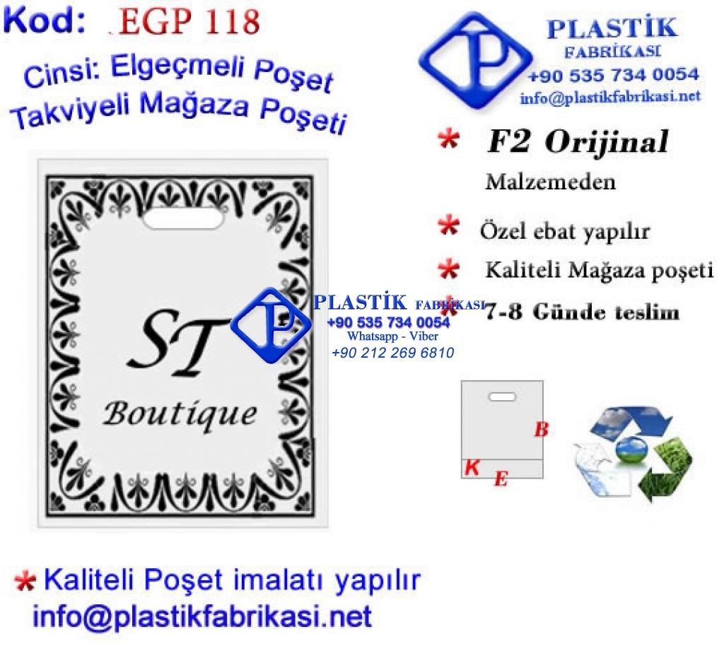 Özel Baskılı Mağaza Poşeti 118 Plastik Poşet Asetat PP Pvc Pet Şeffaf Sızdırmaz Kap