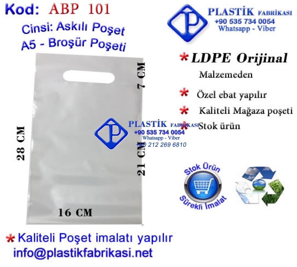 Broşür Poşeti A5 -16x21+5 cm Plastik Poşet Asetat PP Pvc Pet Şeffaf Sızdırmaz Kap