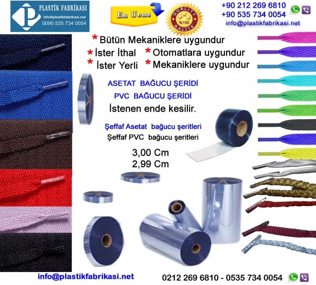 Asetat Bağucu imalatı yapılır Plastik Poşet Asetat PP Pvc Pet Şeffaf Sızdırmaz Kap