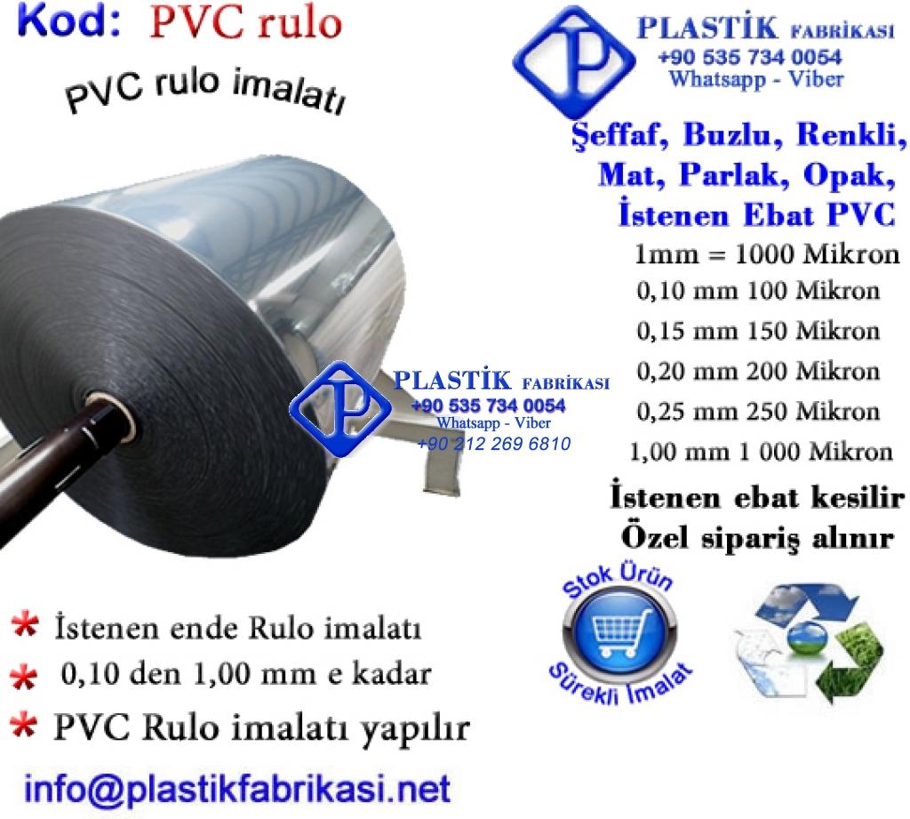 PVC Rulo imalatı yapılır Plastik Poşet Asetat PP Pvc Pet Şeffaf Sızdırmaz Kap