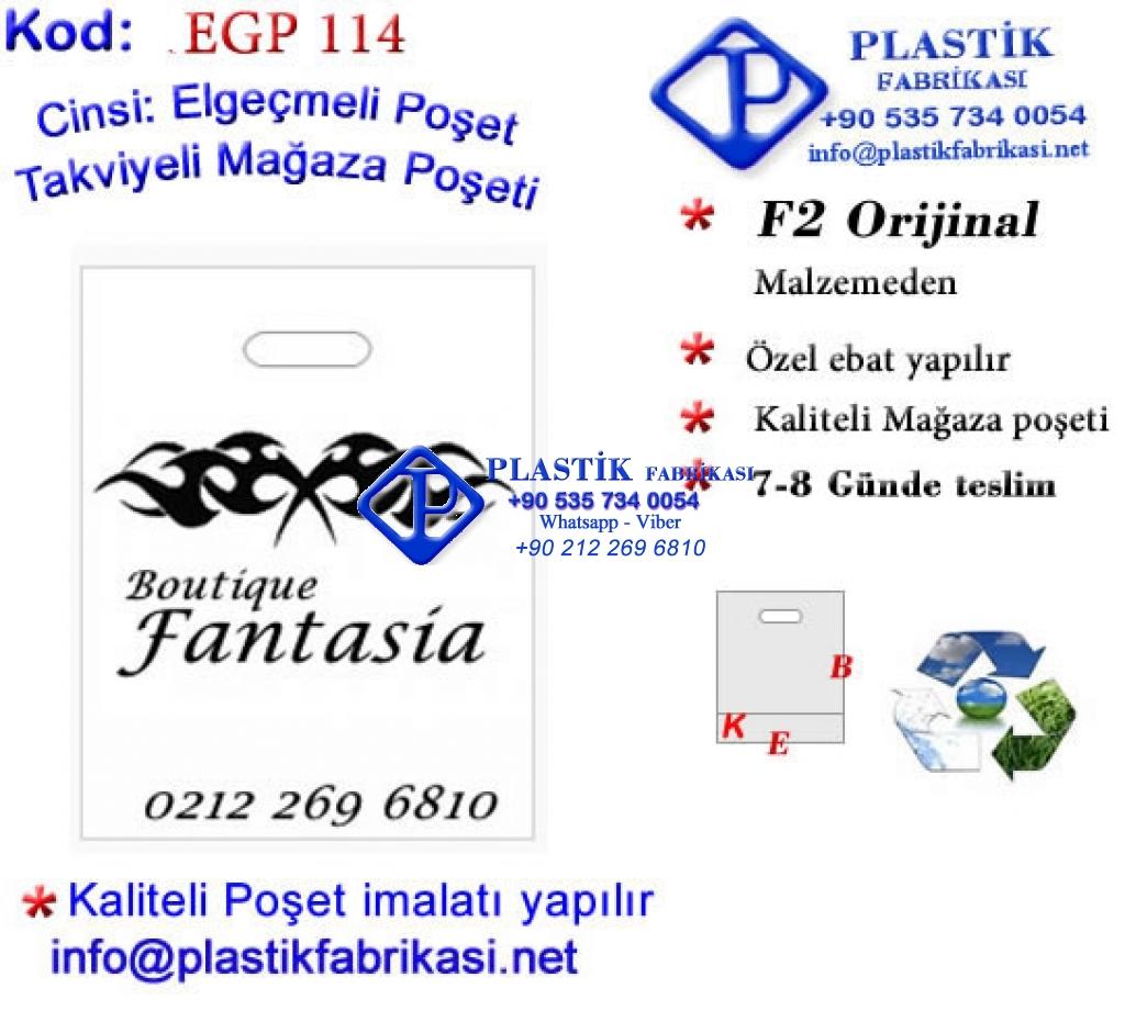Özel Baskılı Mağaza Poşeti 114 Plastik Poşet Asetat PP Pvc Pet Şeffaf Sızdırmaz Kap