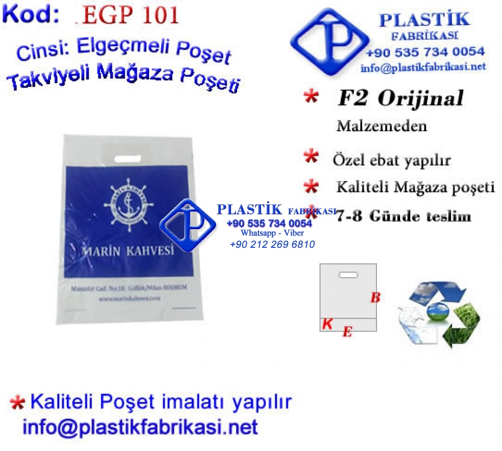 Özel Baskılı Mağaza Poşeti 101 Plastik Poşet Asetat PP Pvc Pet Şeffaf Sızdırmaz Kap