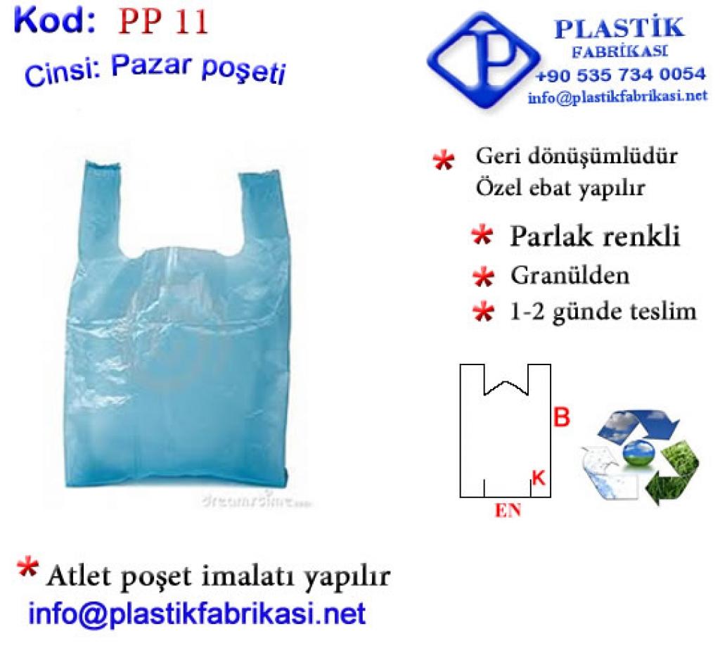 Ucuz Pazar Poşeti Mavi Plastik Poşet Asetat PP Pvc Pet Şeffaf Sızdırmaz Kap