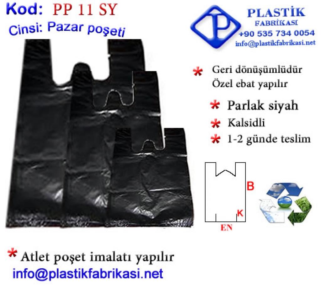 Ucuz Pazar Poşeti Parlak Siyah Plastik Poşet Asetat PP Pvc Pet Şeffaf Sızdırmaz Kap