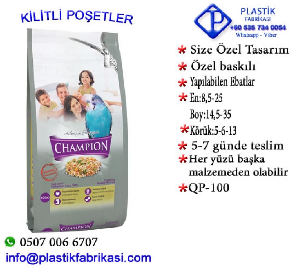 Quadro poşet imalatı yapılır. QP-100 Plastik Poşet Asetat PP Pvc Pet Şeffaf Sızdırmaz Kap