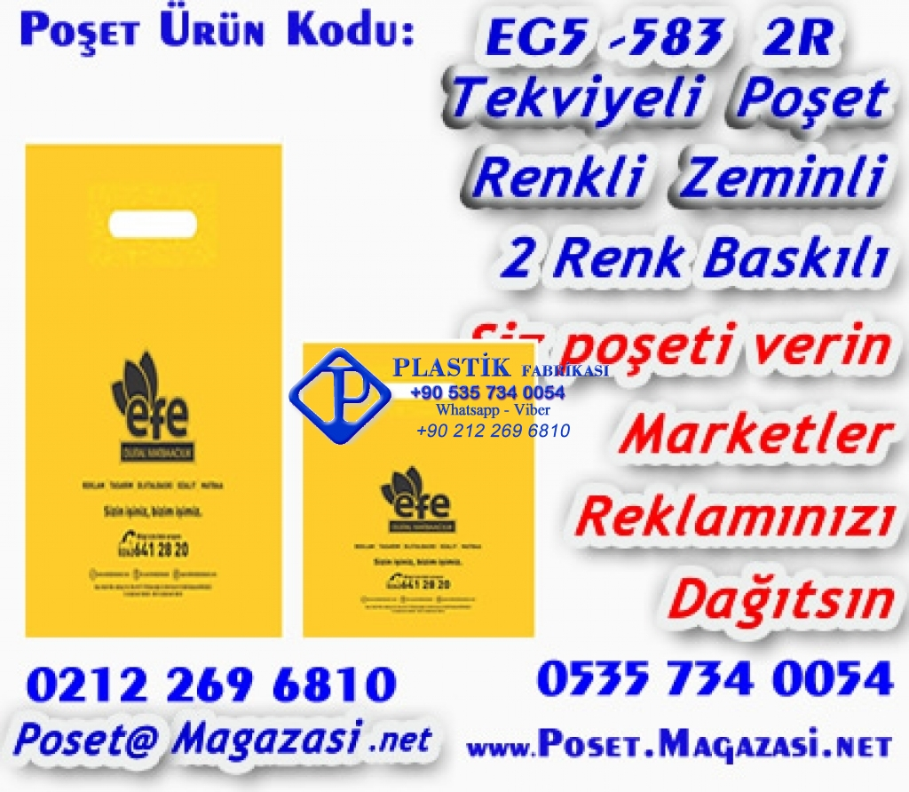 Özel Baskılı Mağaza Poşeti 583 Plastik Poşet Asetat PP Pvc Pet Şeffaf Sızdırmaz Kap