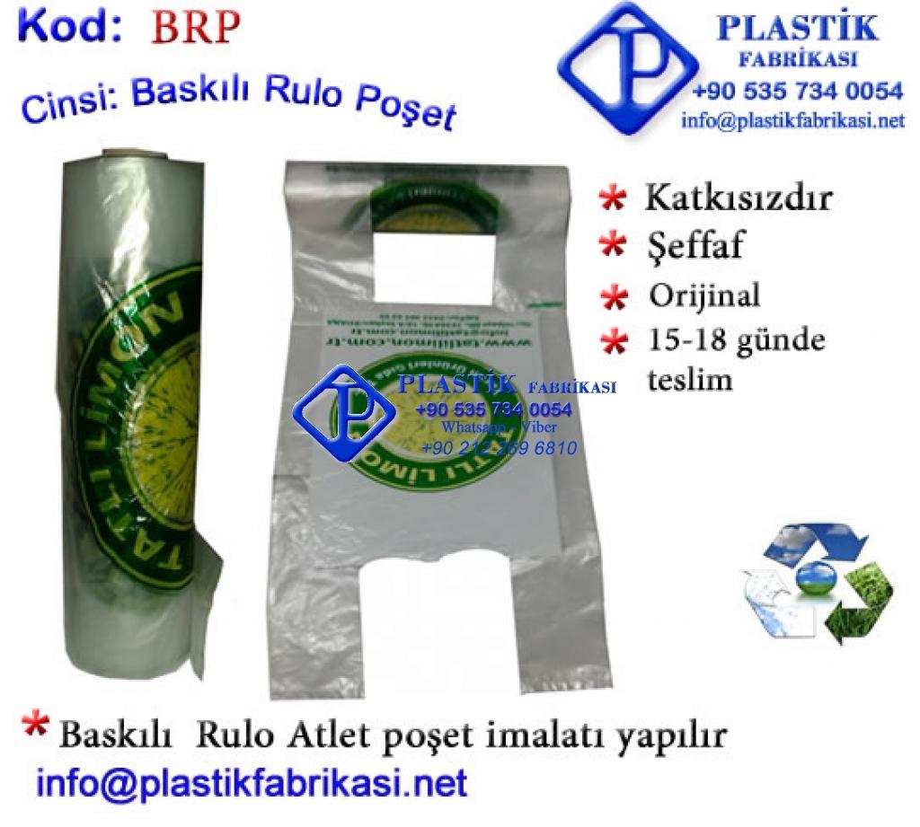 Logo Baskılı Rulo Reyon poşeti Plastik Poşet Asetat PP Pvc Pet Şeffaf Sızdırmaz Kap