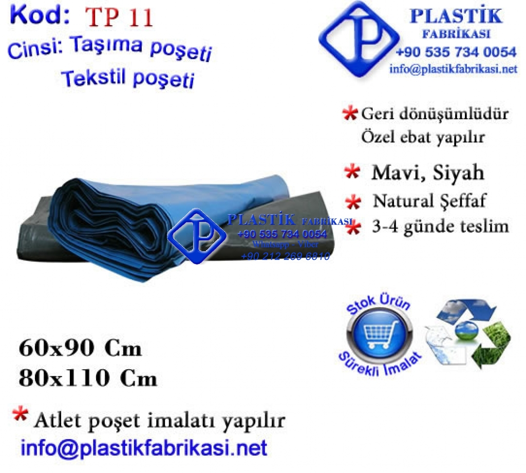 Toptan Çöp Poşeti - Mavi Plastik Poşet Asetat PP Pvc Pet Şeffaf Sızdırmaz Kap