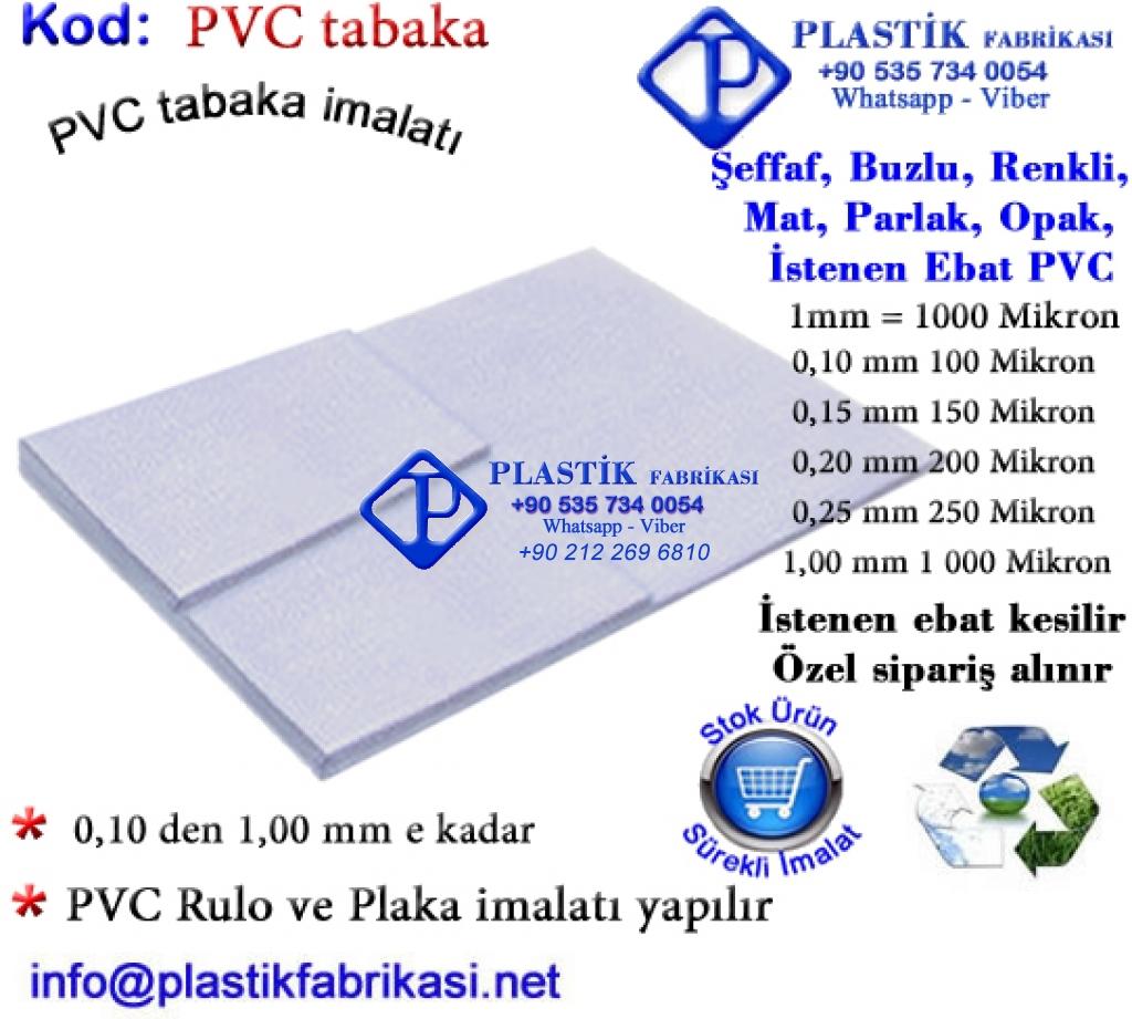 PVC tabaka imalatı yapılır Plastik Poşet Asetat PP Pvc Pet Şeffaf Sızdırmaz Kap